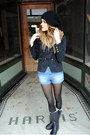 Rain-boots-tretorn-boots-h-m-jacket-high-waisted-zara-shorts