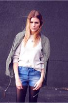 utility jacket Urban Outfitters jacket - high-waisted Zara shorts