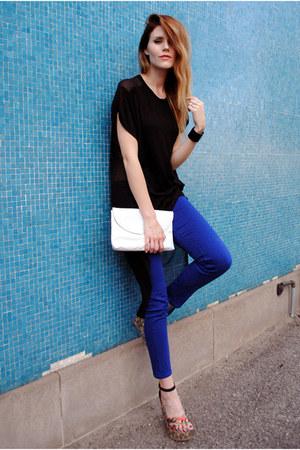 mia shoes wedges - BDG jeans - Love Culture top