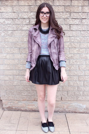amethyst leather jacket Muubaa jacket