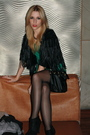 Green-h-m-via-thrift-town-dress-black-h-m-cardigan-black-h-m-purse