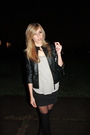 Black-silence-noise-jacket-gray-top-black-silence-noise-skirt-tights-