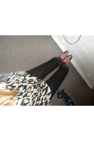 MORGAN leggings - Zara shoes - Topshop top