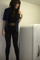 Walmart top - Suzy Shier shirt - American Apparel tights