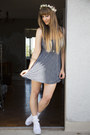 Navy-brandy-melville-dress-white-ruffled-socks-american-apparel-socks