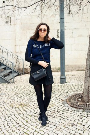Zara jumper - GINA TRICOT boots - Alexander Wang bag - H&M sunglasses
