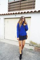 vintage jumper - vintage shirt - sunglasses - Ebay wedges