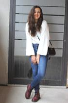 Zara jeans - Dr Martens boots - Alexander Wang bag - Zara top