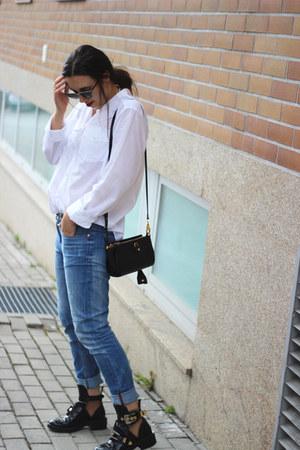 balenciaga boots - vintage shirt - Alexander Wang bag - ray-ban sunglasses