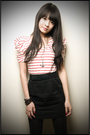 Red-forever-21-shirt-black-forever-21-skirt-silver-forever-21-accessories-