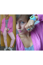 vintage blazer - hurwundeki jeans - H&M top - timex accessories - H&M and vintag