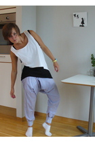 pants - top - H&M top - timex accessories