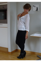 Zara pants - H&M top - Din Sko boots - GINA TRICOT bra