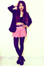 Black-romwecom-blazer-pink-gingham-blackmilkclothingcom-shorts