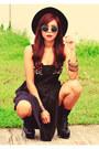 Black-choiescom-boots-black-cat-face-romwecom-dress