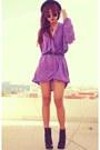 Black-bershka-boots-purple-wrap-inlovewithfashion-dress