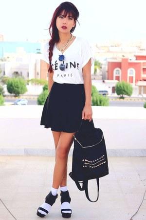 black Theeditorsmarketcom bag - black metallic strip Romwecom sunglasses