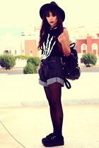 black denim papaerbag Shopgipsypixiecom shorts