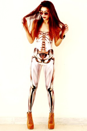 brown muscle and bone blackmilkclothing bodysuit