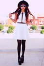 White-love-marcella-inlovewithfashioncom-dress-black-wide-brim-oasapcom-hat