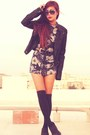 Black-skechers-shoes-black-leather-topshop-jacket-navy-h-m-shirt