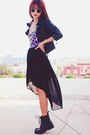 Purple-dip-hem-motelrocks-dress-black-leaather-sheinside-jacket