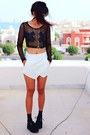 Black-creepers-choiescom-shoes-white-asymmetric-romwecom-shorts