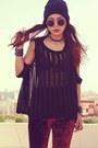 Black-punk-spike-romwe-bracelet-black-romwe-bracelet