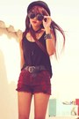 Crimson-creepers-gift-shoes-crimson-forever-21-shorts-black-esprit-belt