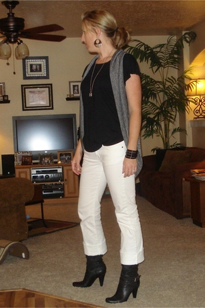 Wet Seal vest - shirt - Express jeans - BCBGgirls boots