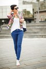 Hot-pink-sheinside-jacket-white-new-yorker-shirt-blue-us-polo-pants