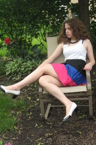 Forever21 top - Forever21 skirt - stuart weitzman shoes - Forever21 necklace