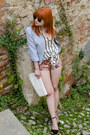 Periwinkle-peplum-fray-id-jacket-off-white-striped-h-m-shirt