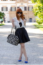leather Review skirt - chiffon Forever 21 shirt - velour Love Moschino bag