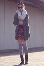 Dark-brown-boots-cream-circle-scarf-silver-socks-black-skirt