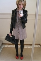 le chateau jacket - H&M dress - thrifted shoes - le chateau purse