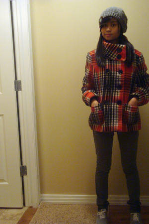 gray accessories - orange Urban Behaviour jacket - gray Forever21 jeans - gray A