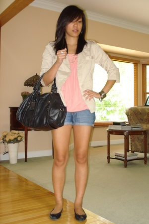 Forever21 blazer - Forever21 top - Lux shorts - Marc by Marc Jacobs purse