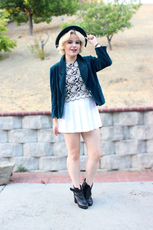 Forever 21 top - white pleated American Apparel skirt