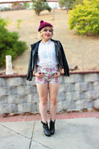 black Nasty Gal jacket - Forever 21 shorts