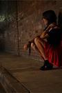 Red-vintage-skirt-black-jeffrey-campbell-boots-black-supre-top-black-stann