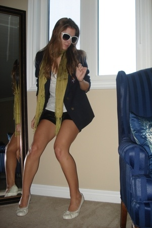 Forever21 shorts - shirt - blazer - le chateau shoes - sunglasses