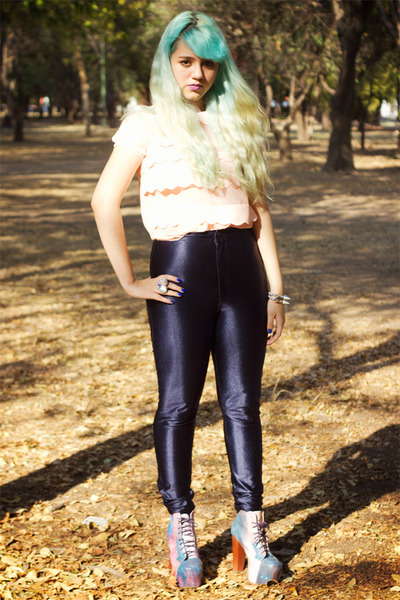 navy American Apparel pants