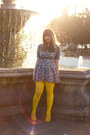 Yellow-liliana-shoes-navy-floral-no-brand-dress-yellow-tights-black-zara-b