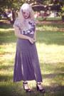 Dark-gray-zara-skirt-black-fahrenheit-shoes-white-zara-t-shirt