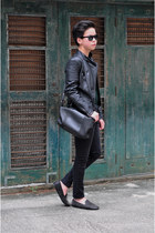 black leather Zara jacket