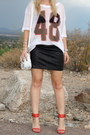 White-zara-bag-white-mesh-jersey-h-m-shirt-black-zara-skirt