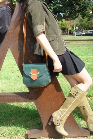 blazer - purse - face-off skirt - I love Billy boots