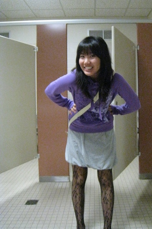 Delias sweater - Target dress - tights