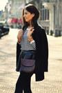 Black-h-m-coat-white-striped-h-m-shirt-vintage-bag-black-zara-wedges